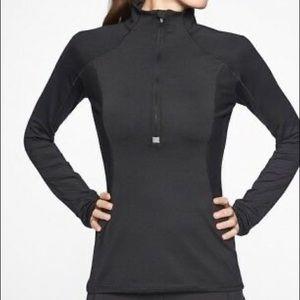 ATHLETA Running Wild Black Half Zip Pullover